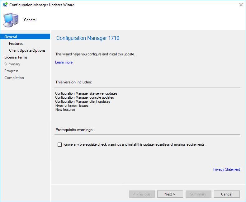 SCCM 1710 Upgrade Guide