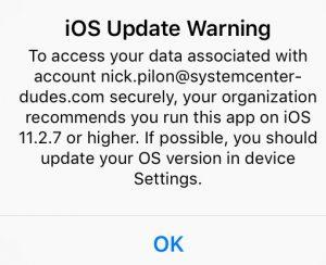 Intune iOS Meltdown Spectre