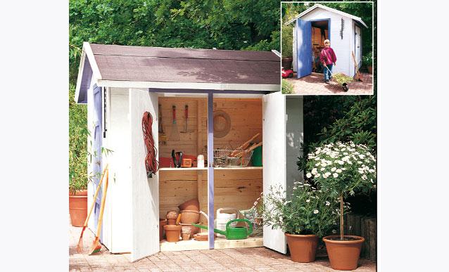 fabriquer un abri de jardin avec de