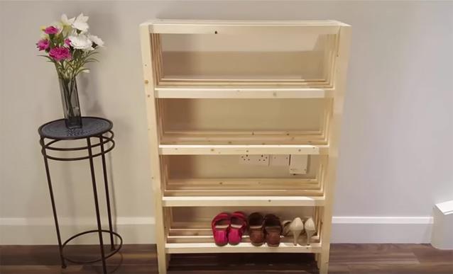 tutoriel fabriquer un meuble a chaussures