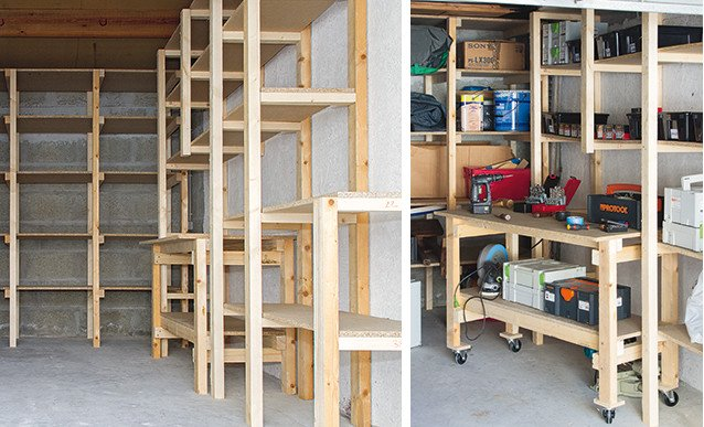 diy garage etagere et etabli sur mesure