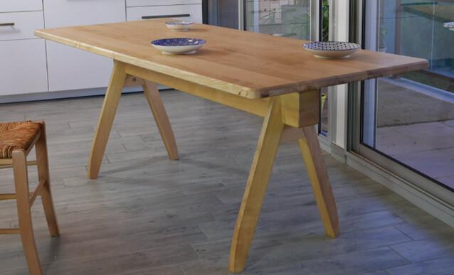 fabrication d une table en frene