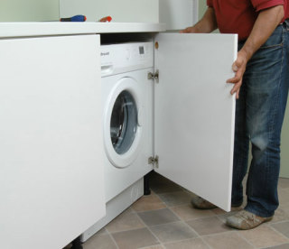 installer un lave linge encastre sous