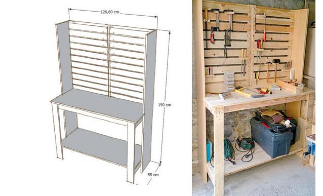 fabriquer un meuble d atelier avec des