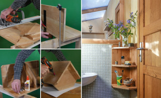 fabriquer des etageres d angle en bois