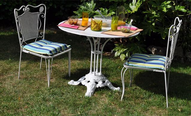renovation d une table de jardin en metal