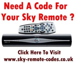Sky Remote Codes