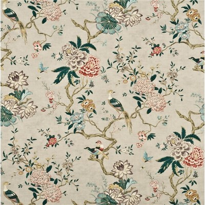 GP & J Baker Tyg Oriental Bird Rose/Grey