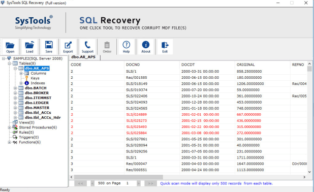 Preview SQL Database Items