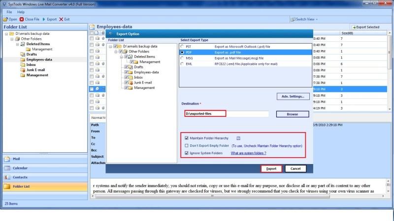 Windows Live Mail в PDF бесплатно