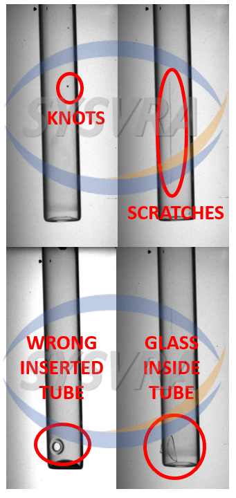 Defects in glass ampoules