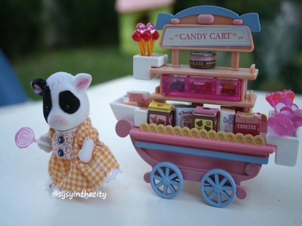 sylvanian families candy cart sysyinthecity