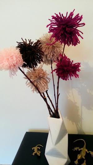 bouquet pompons
