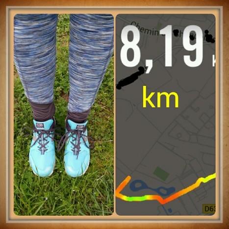 8 km running