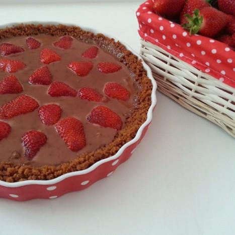tarte fraises chocolat