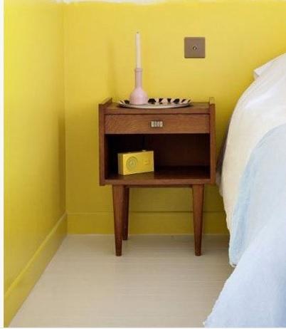 chambre chevet vintage
