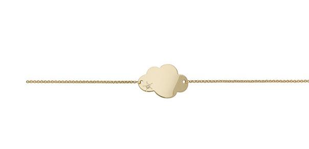 gourmette or nuage premier cadeau