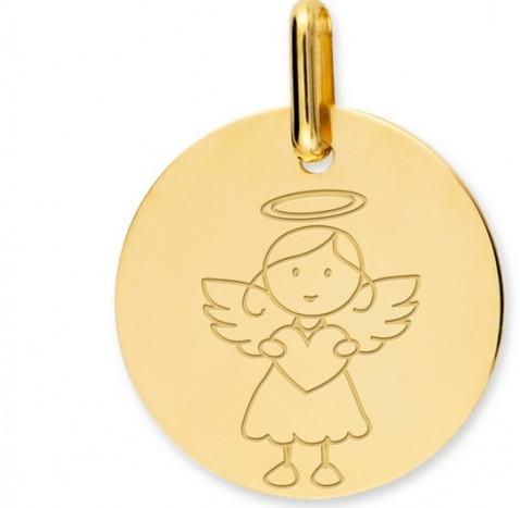 médaille petit ange fille premier cadeau