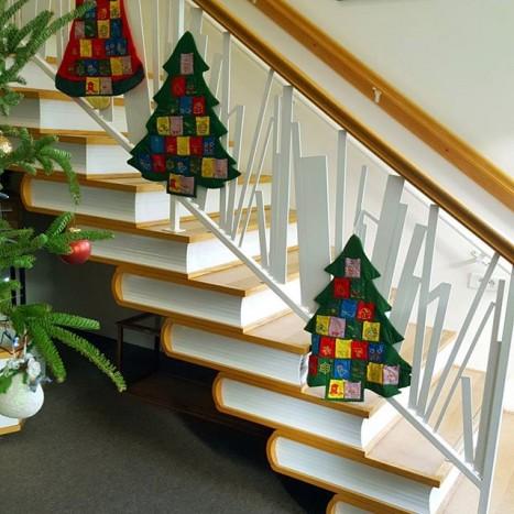 escalier livres