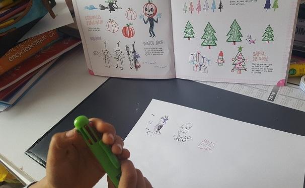 fleurus je dessine au stylo 4 couleurs