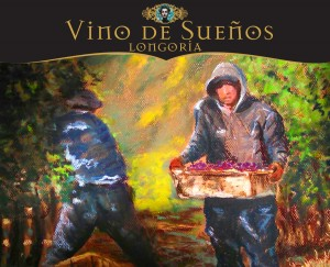 The wine label above for Longoria Wines is one of 12 labels and wines to be highlighted at the upcoming Vino de Sueños fundraiser for People Helping People on November 1st at the Santa Ynez Marriott.  The original art for the wine label was created and donated by Jim Farnum.