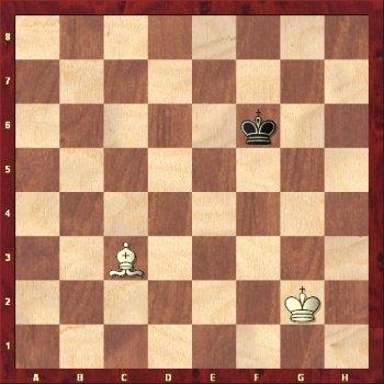 Goniec szachuje króla