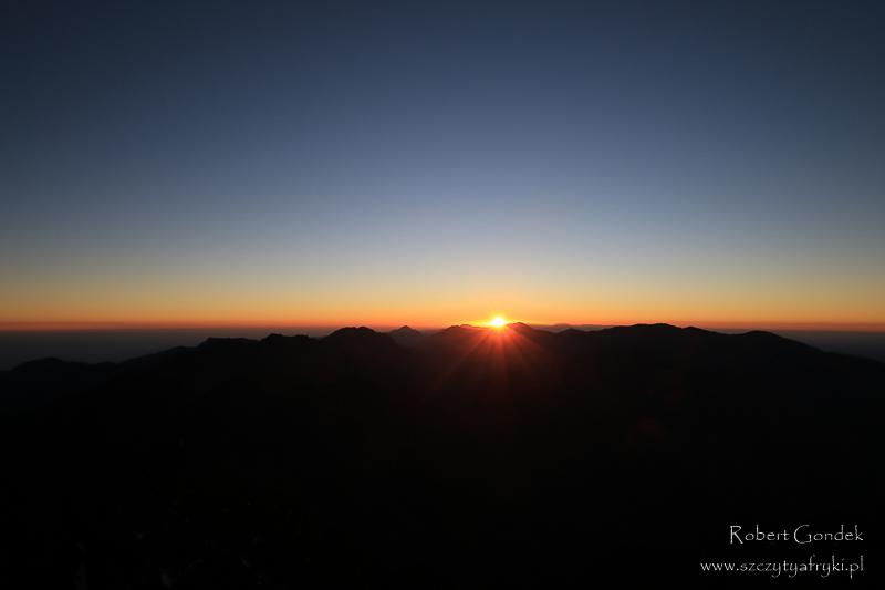 Maroko - Wschód słońca na Jebel Toubkal