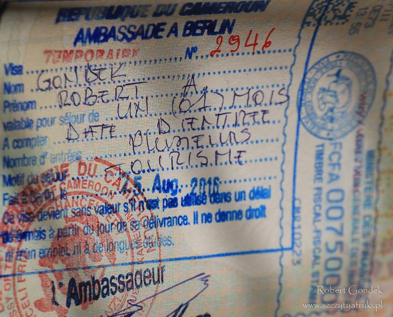 Ile kosztuje podróż do Kamerunu - wiza do Kamerunu