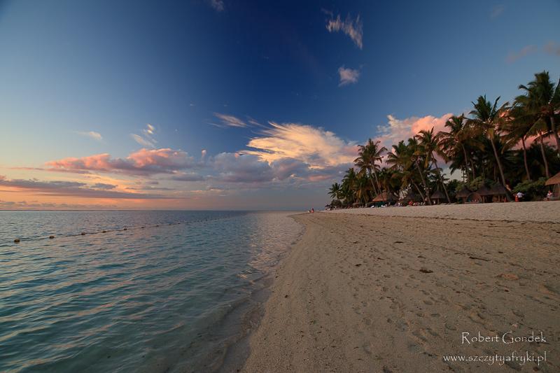 Mauritius o zachodzie słońca