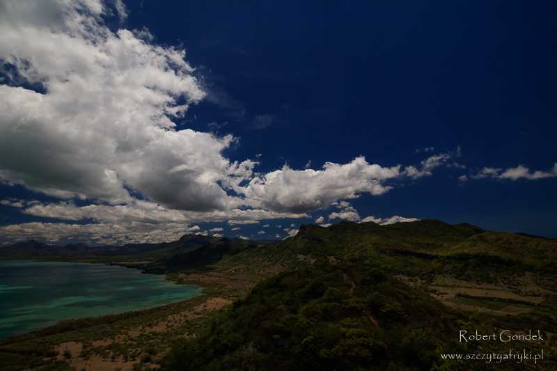 Widok na Mauritius z trekkingu na Le Morne Brabant