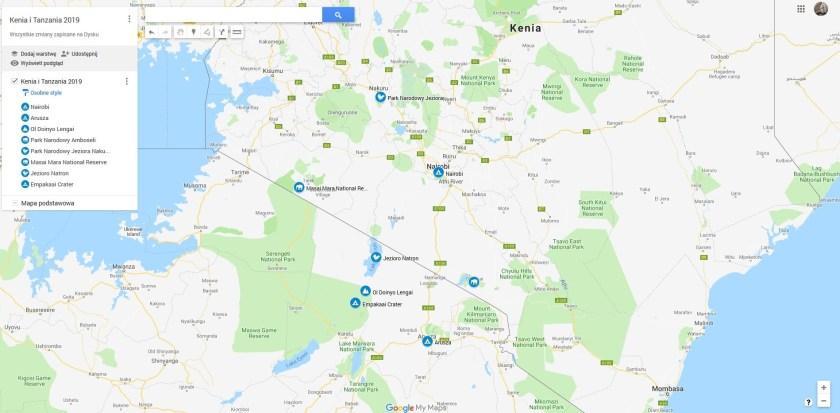 Plan wyprawy fotograficznej do Kenii i Tanzanii