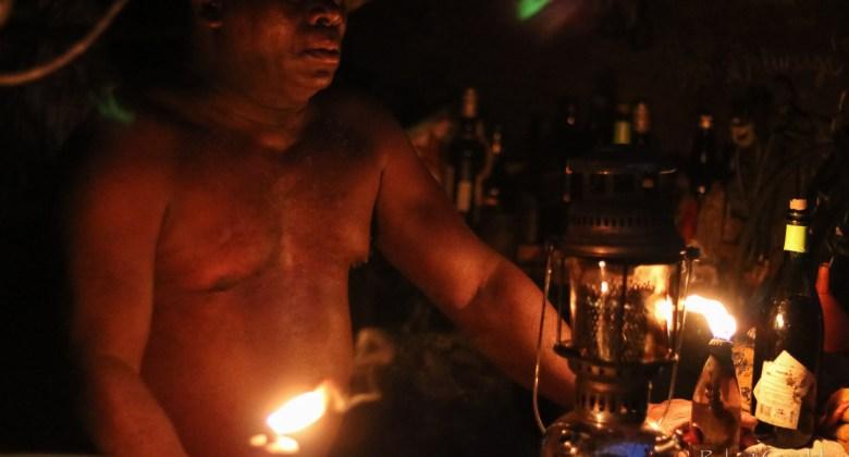 W barze w São Tomé