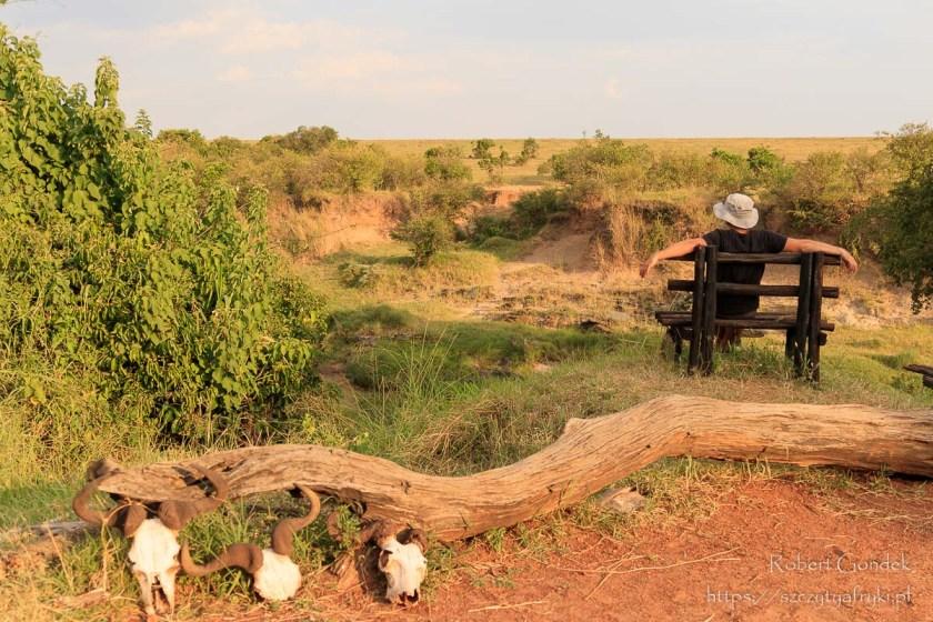 Widok z kempingu Julia's River na rezerwat Masai Mara. Wrażenia z podróży do Kenii i Tanzanii