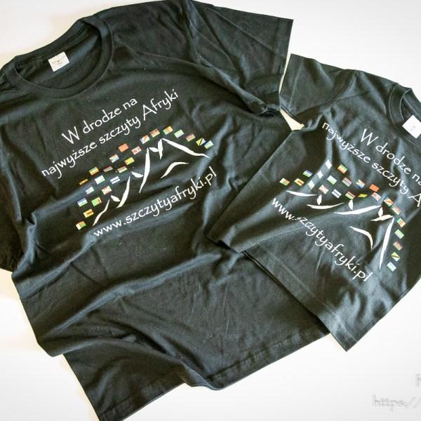 Czarna koszulka dla taty i syna