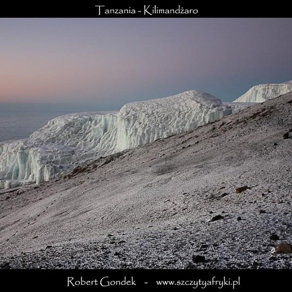 Zdjęcie lodowca z Kilimandżaro