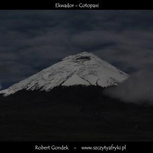 Zdjęcie wulkanu Cotopaxi w Ekwadorze