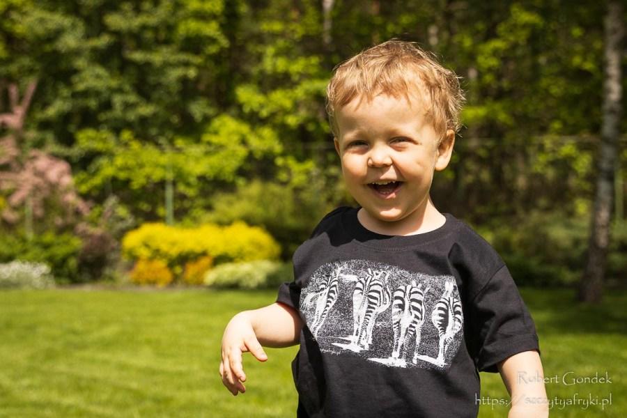 T-shirt z zebrami dla dzieci
