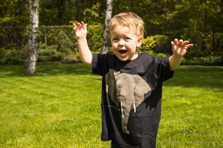 T-shirt ze słoniem