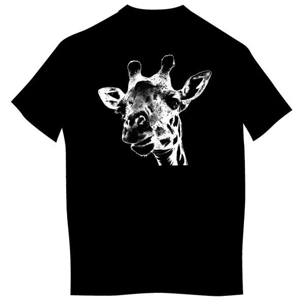 T-shirt z nadrukiem dla dorosłych - żyrafa z Kenii