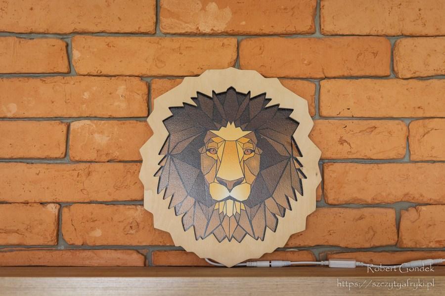 Lampka w kształcie głowy lwa - kolorowa lampka do dekoracji w stylu afrykańskim