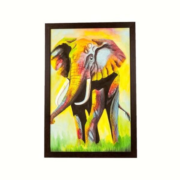 Piękny afrykański obraz słonia na płótnie