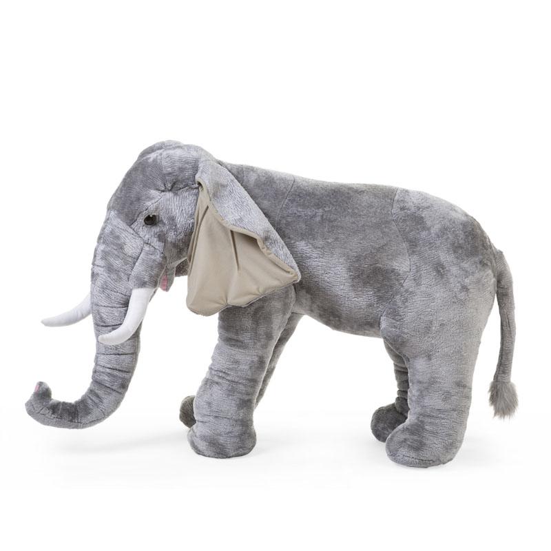 Zwierzęta afrykańskie - wielki słoń zabawka - dekoracja pokoju dla dzieci