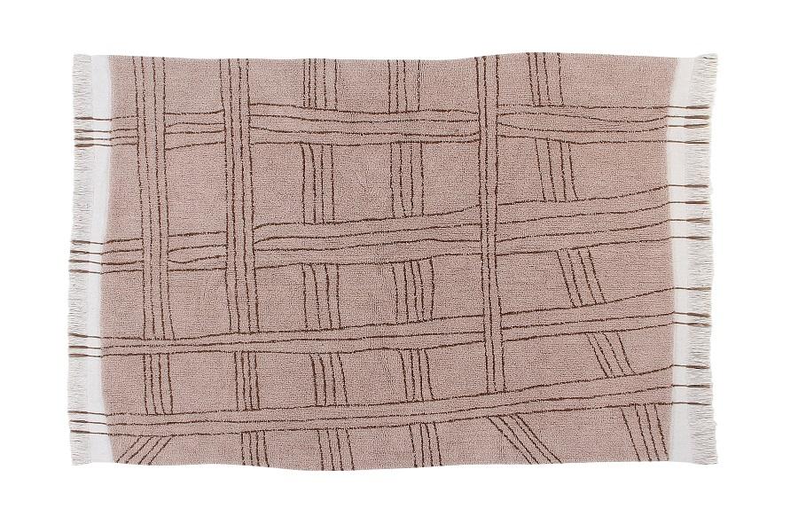 Afrykańska kolekcja wełnianych dywanów - model Shuka Dusty Pink - do salonu