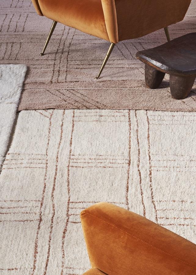 Afrykańska kolekcja wełnianych dywanów - model Shuka Dusty Pink - piękne wyroby z wełny