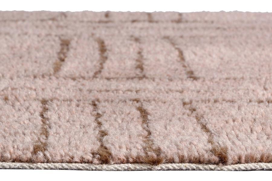 Afrykańska kolekcja wełnianych dywanów - model Shuka Dusty Pink - wełniane dekoracje