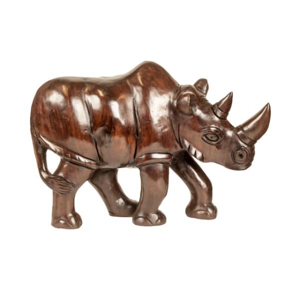 Duży drewniany nosorożec z Afryki