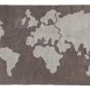 Dywan bawełniany mapa świata
