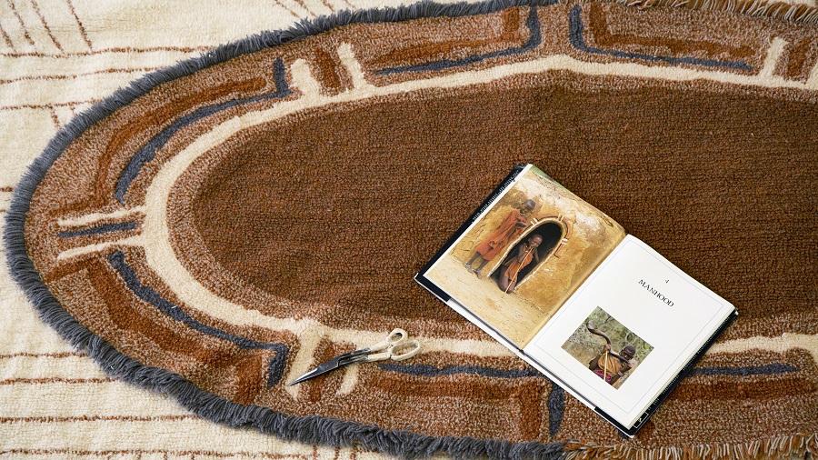 Dywan z wełny Karibu - afrykańskie wnętrza - dekoracja na podłogę