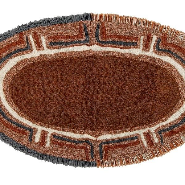 Dywan z wełny Karibu - afrykańskie wnętrza dekoracja podłogowa