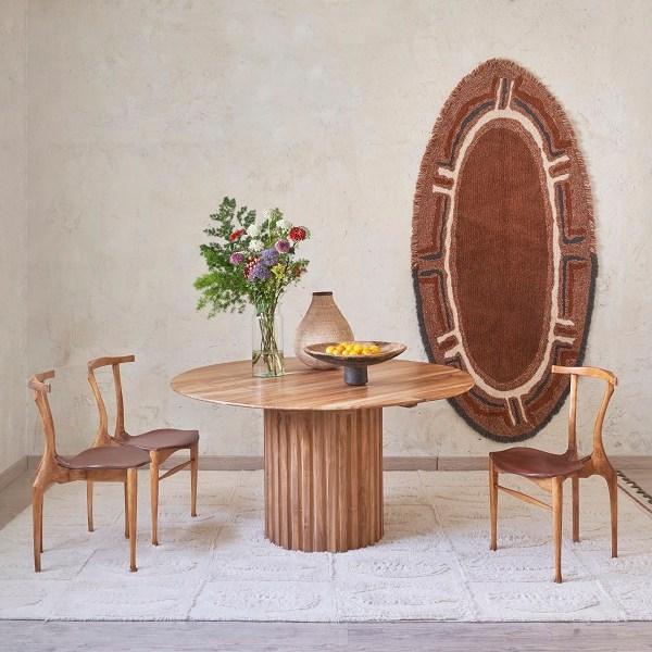 Dywan z wełny Karibu - afrykańskie wnętrza dekoracje afrykańskie